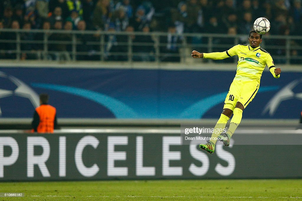 Renato Neto of KAA Gent in action during the UEFA Champions League round of 16 first leg match between KAA Gent and VfL Wolfsburg at Ghelamco Arena...