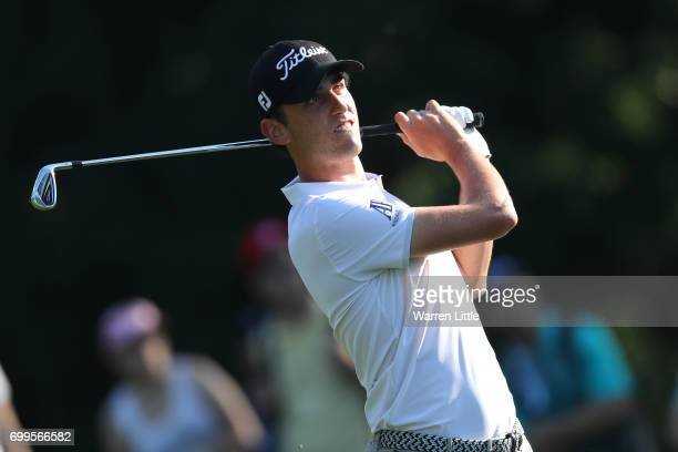 Renato Paratore of Italy hits his second shot on the 10th hole during day one of the BMW International Open at Golfclub Munchen Eichenried on June 22...