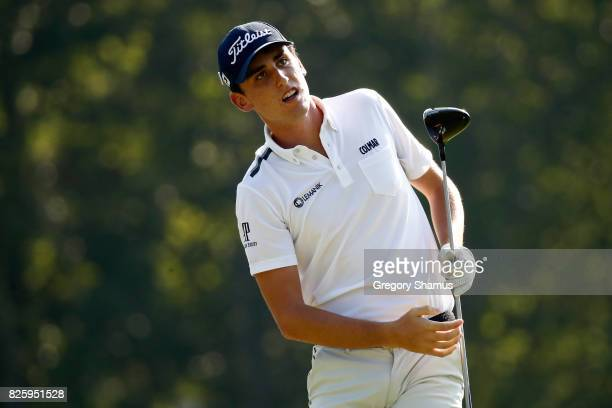 Renato Paratore of Italy hits off the sixth tee during the first round of the World Golf Championships Bridgestone Invitational at Firestone Country...