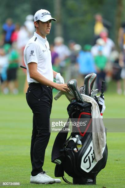 Renato Paratore of Italy looks down the 11th hole during the final round of the BMW International Open at Golfclub Munchen Eichenried on June 25 2017...