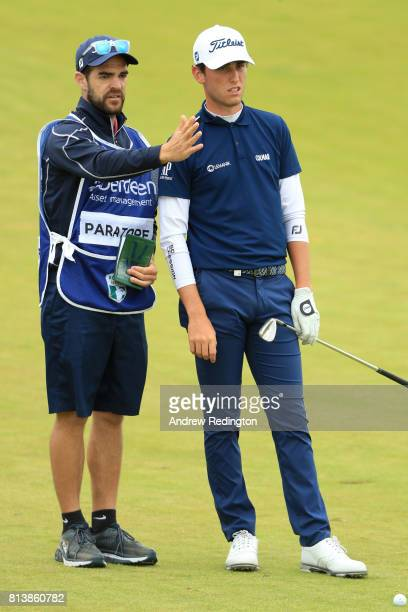 Renato Paratore of Italy looks down the 1st hole during day one of the AAM Scottish Open at Dundonald Links Golf Course on July 13 2017 in Troon...