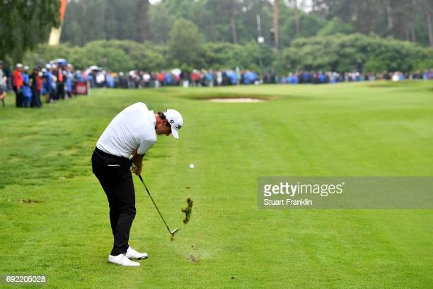 Renato Paratore of Italy plays a shot from the fairway during day four of the Nordea Masters at Barseback Golf Country Club on June 4 2017 in...