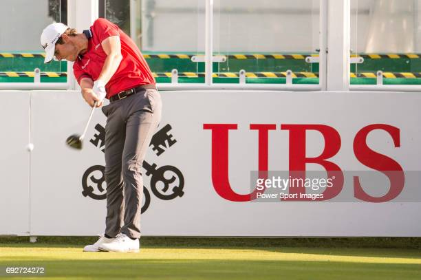 Renato Paratore of Italy tees off the first hole during the 58th UBS Hong Kong Open as part of the European Tour on 08 December 2016 at the Hong Kong...
