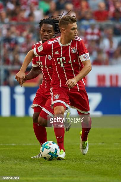 Renato Sanches of Bayern Muenchen and Joshua Kimmich of Bayern Muenchen in action during the Audi Cup 2017 match between SSC Napoli and FC Bayern...