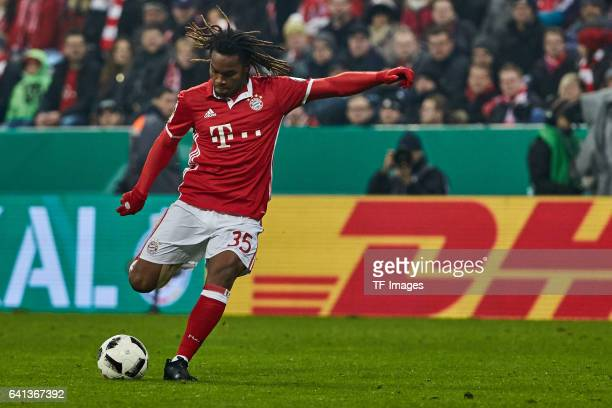Renato Sanches of Bayern Muenchen in action during the DFB Cup Round Of 16 match between Bayern Muenchen and VfL Wolfsburg at Allianz Arena on...