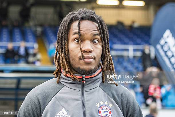 Renato Sanches of Bayern Muenchen is seen prior to the Bundesliga match between SV Darmstadt 98 and Bayern Muenchen at Stadion am Boellenfalltor on...