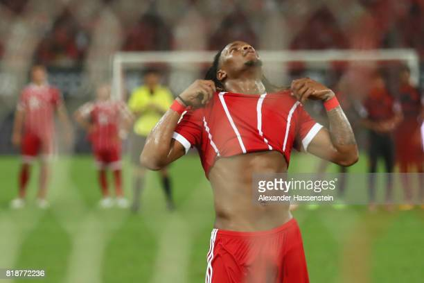 Renato Sanches of Bayern Muenchen reacts after missing a penalty during the penalty shootout of the Audi Football Summit 2017 match between Bayern...