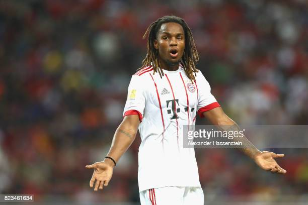 Renato Sanches of Bayern Muenchen reacts during the International Champions Cup 2017 match between Bayern Muenchen and Inter Milan at National...