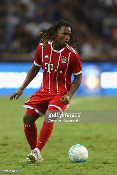 Renato Sanches of Bayern Muenchen runs with the ball during the International Champions Cup 2017 match between Bayern Muenchen and Chelsea FC at...