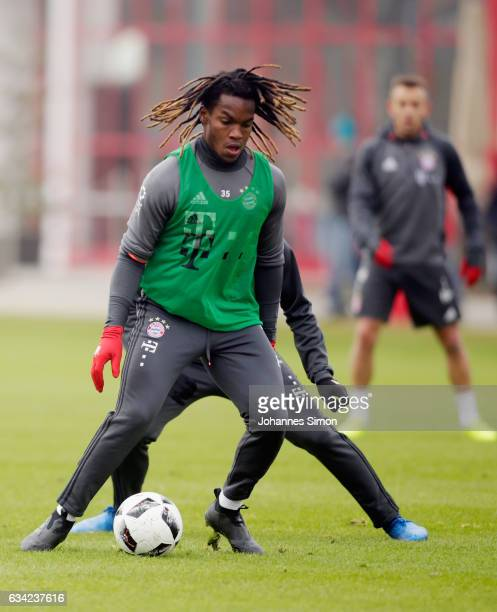 Renato Sanches of Bayern participates in a FC Bayern Muenchen training session at Saebener Strasse on February 8 2017 in Munich Germany