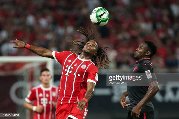 Renato Sanches of FC Bayern and Alex Iwobi of Arsenal FC during the 2017 International Champions Cup China match between FC Bayern and Arsenal FC at...