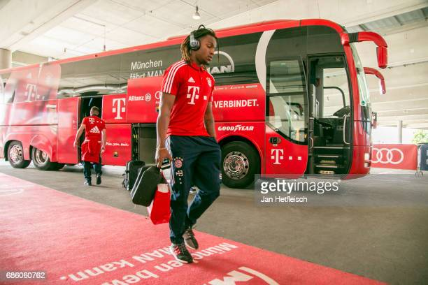 Renato Sanches of FC Bayern Muenchen arrives at the players' tunnel for the Bundesliga match between Bayern Muenchen and SC Freiburg at Allianz Arena...