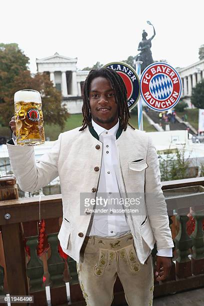 Renato Sanches of FC Bayern Muenchen attend the Oktoberfest beer festival at Kaefer Wiesenschaenke tent at Theresienwiese on October 2 2016 in Munich...