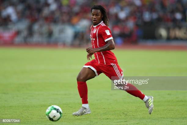 Renato Sanches of FC Bayern Muenchen in action during the 2017 International Champions Cup football match between AC Milan and FC Bayern Muenchen on...