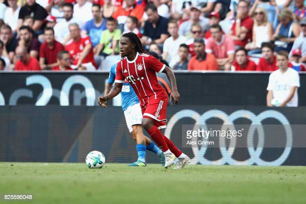 Renato Sanches of FC Bayern Muenchen in action during the Audi Cup 2017 match between SSC Napoli v FC Bayern Muenchen at Allianz Arena on August 2...