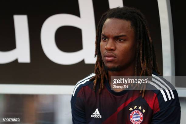 Renato Sanches of FC Bayern Muenchen looks on during the 2017 International Champions Cup football match between AC Milan and FC Bayern Muenchen on...