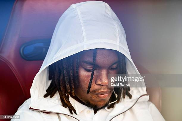 Renato Sanches of FC Bayern Muenchen looks on prior to the UEFA Champions League Group D match between Club Atletico de Madrid and FC Bayern Muenchen...