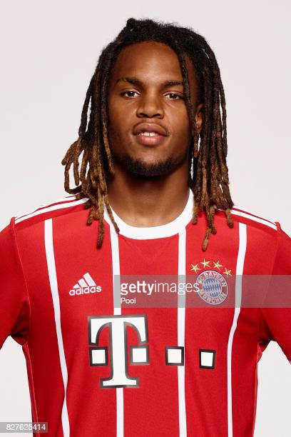 Renato Sanches of FC Bayern Muenchen poses during the team presentation at Allianz Arena on August 8 2017 in Munich Germany