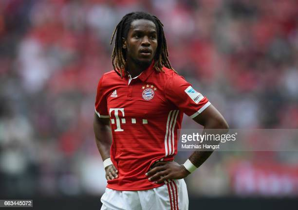 Renato Sanches of FC Bayern Muenchen seen during the Bundesliga match between Bayern Muenchen and FC Augsburg at Allianz Arena on April 1 2017 in...