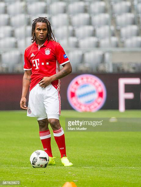 Renato Sanches of FC Bayern Munich is seen during a training session starts at Allianz Arena on August 6 2016 in Munich Germany