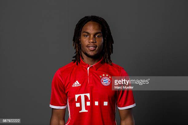 Renato Sanches of FC Bayern Munich pose during the team presentation on August 10 2016 in Munich Germany