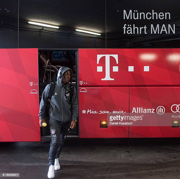 Renato Sanches of Muenchen arrives prior to the Bundesliga match between FC Augsburg and Bayern Muenchen at WWK Arena on October 29 2016 in Augsburg...