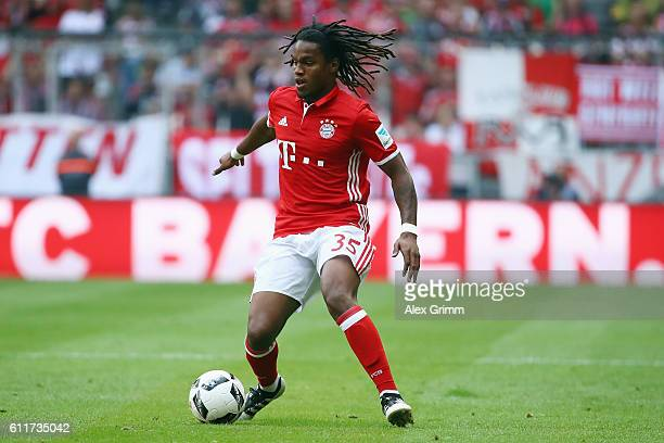 Renato Sanches of Muenchen controles the ball during the Bundesliga match between Bayern Muenchen and 1 FC Koeln at Allianz Arena on October 1 2016...