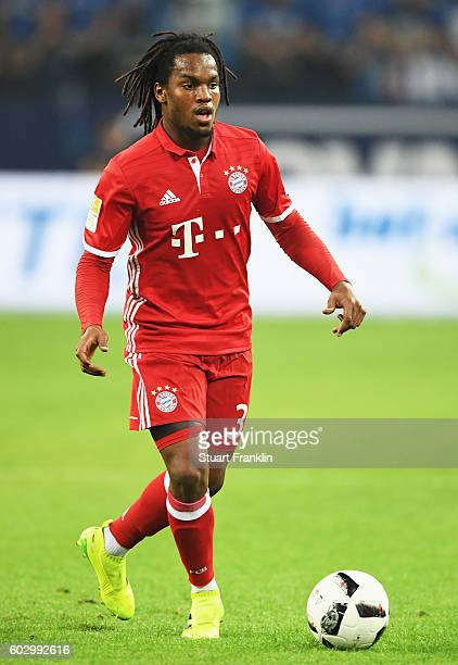 Renato Sanches of Muenchen in action during the Bundesliga match between FC Schalke 04 and Bayern Muenchen at VeltinsArena on September 9 2016 in...