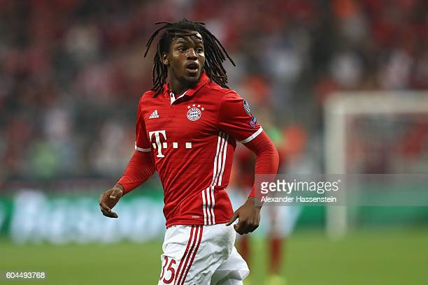 Renato Sanches of Muenchen looks on during the UEFA Champions League Group D match between FC Bayern Muenchen and FC Rostov at Allianz Arena on...