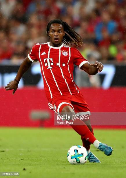 Renato Sanches of Muenchen runs with the ball during the Audi Cup 2017 match between Bayern Muenchen and Liverpool FC at Allianz Arena on August 1...