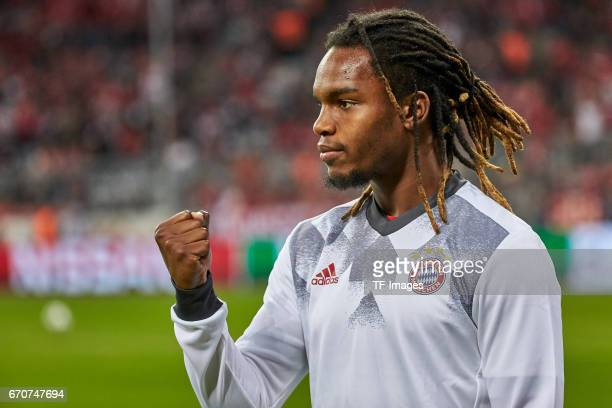 Renato Sanches of Munich looks on during the UEFA Champions League Quarter Final first leg match between FC Bayern Muenchen and Real Madrid CF at...