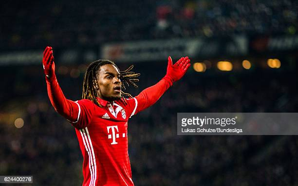 Renato Sanches of Munich reacts during the Bundesliga match between Borussia Dortmund and Bayern Muenchen at Signal Iduna Park on November 19 2016 in...