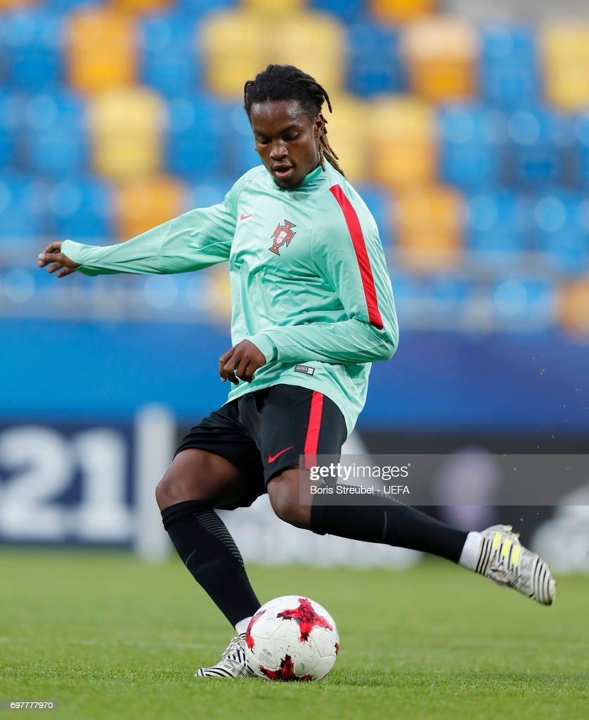 Renato Sanches of Portugal controls the ball during the MD-1 training session of the U21 national team of Portugal at Gdynia Sports Arena on June 19, 2017 in Gdynia, Poland.