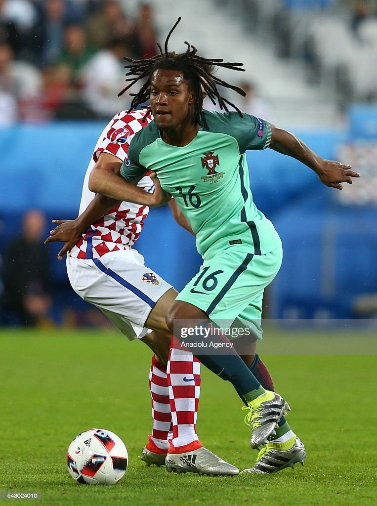 Renato Sanches of Portugal in action during the Euro 2016 round of 16 football match between Croatia and Portugal at Stade Bollaert-Delelis in Lens, France on June 25, 2016.
