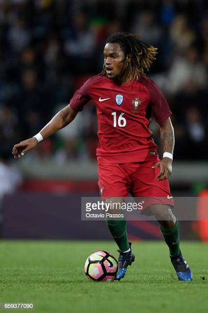 Renato Sanches of Portugal in action during the International friendly match between Portugal and Sweden at Barreiros stadium on March 28 2017 in...