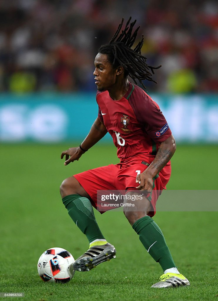 Renato Sanches of Portugal in action during the UEFA EURO 2016 quarter final match between Poland and Portugal at Stade Velodrome on June 30, 2016 in Marseille, France.