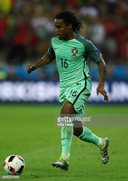 Renato Sanches of Portugal runs with the ball during the UEFA EURO 2016 semi final match between Portugal and Wales at Stade des Lumieres on July 6...