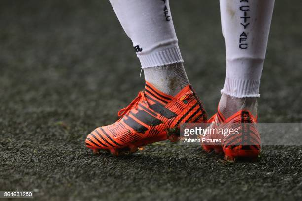 Renato Sanches of Swansea City boots during the Premier League match between Swansea City and Leicester City at The Liberty Stadium on October 21...