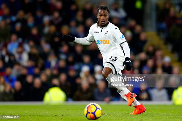 Renato Sanches of Swansea City during the Premier League match between Burnley and Swansea City at Turf Moor on November 18 2017 in Burnley England