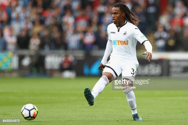Renato Sanches of Swansea City during the Premier League match between Swansea City and Newcastle United at Liberty Stadium on September 10 2017 in...