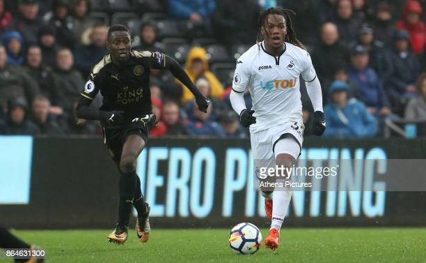 Renato Sanches of Swansea City during the Premier League match between Swansea City and Leicester City at The Liberty Stadium on October 21 2017 in...