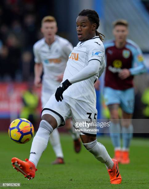Renato Sanches of Swansea City in action during the Premier League match between Burnley and Swansea City at Turf Moor on November 18 2017 in Burnley...