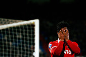 Renato Tapia of Twente reacts after a missed chance on goal during the Dutch Eredivisie match between Willem II Tilburg and FC Twente held at Koning...