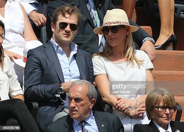 Renaud Capucon and his wife Laurence Ferrari attend the women's final of the French Open 2014 held at RolandGarros stadium on June 7 2014 in Paris...
