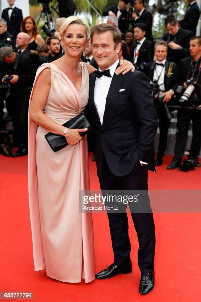 Renaud Capucon and Laurence Ferrari attend 'Amant Double ' Red Carpet Arrivals during the 70th annual Cannes Film Festival at Palais des Festivals on...