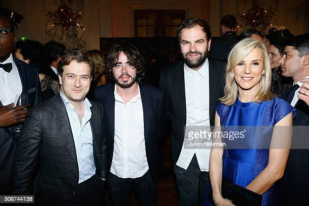 Renaud Capucon Eric Metzger Quentin Margot and Laurence Ferrari attend the GQ Men Of The Year Awards 2015 as part of Paris Fashion Week on January 25...