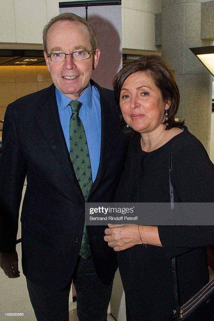 Renaud Donnedieu de Vabres and Valerie Bernis, President 'Reve d'enfants' association pose before the Don Quichotte Ballet Hosted By 'Reve d'Enfants' Association and AROP at Opera Bastille on December 9, 2012 in Paris, France.