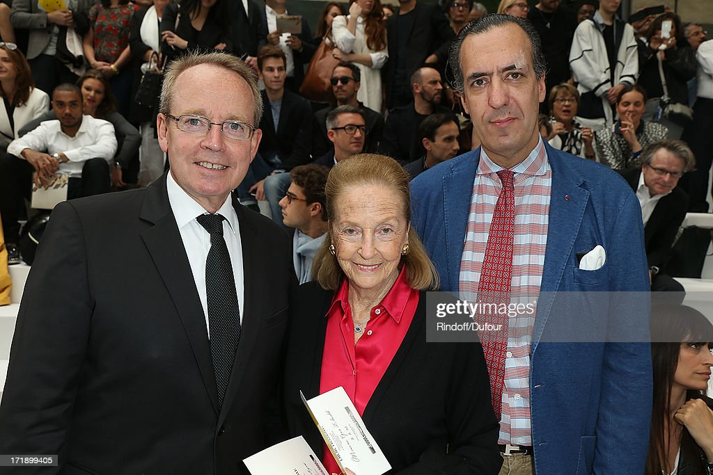 Renaud Donnedieu de Vabres, Doris Brynner and Jaime de Marichalar attend Dior Homme Menswear Spring/Summer 2014 show as part of Paris Fashion Week on June 29, 2013 in Paris, France.