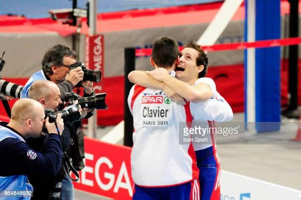 Renaud LAVILLENIE et Jerome CLAVIER Perche Championnats d'Europe en salle BercyParis