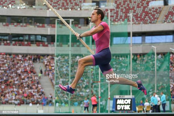 Renaud Lavillenie in action during the 5th Kamila Skolimowska Memorial of athletics in Warsaw Poland on 15 August 2017